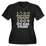 Presidential Firsts Women's Plus Size V-Neck Dark