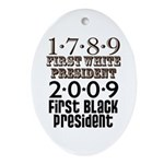 Presidential Firsts: 1789-2009 Oval Ornament
