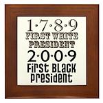 Presidential Firsts: 1789-2009 Framed Tile