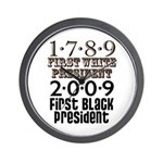Presidential Firsts: 1789-2009 Wall Clock