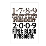 Presidential Firsts: 1789-2009 Postcards (8x)