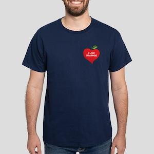 Heart Apple I Love 3rd Grade Dark T-Shirt