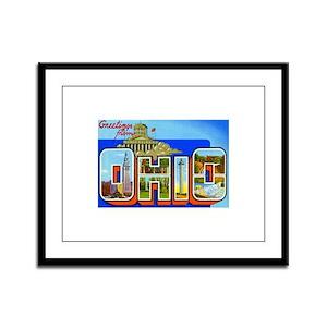 Ohio OH Framed Panel Print