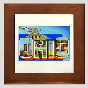 Ohio OH Framed Tile