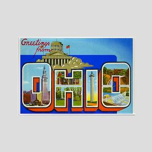 Ohio OH Rectangle Magnet