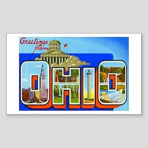 Ohio OH Rectangle Sticker
