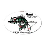 Reel Dry Over The Rod 35x21 Oval Wall Decal