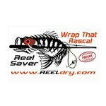 Reel Dry Over The Rod Protection 35x21 Wall Decal
