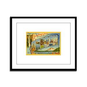 Oregon OR Framed Panel Print