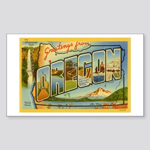 Oregon OR Rectangle Sticker