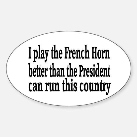 French Horn Oval Decal