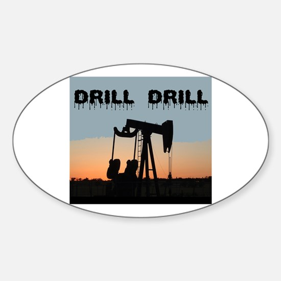 OIL WELL Oval Decal