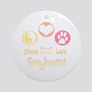 Greyhound Peace2 Ornament (Round)
