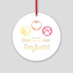 Greyhound Peace2 Ornament (Round)