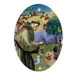 St. Francis Cairn Oval Ornament
