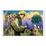 St. Francis Cairn Rectangle Sticker