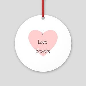 I Love Boxers Keepsake (Round)