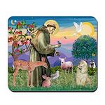 St Francis / Cocker (buff) Mousepad