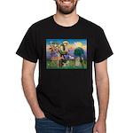 St Francis / Cocker (buff) Dark T-Shirt