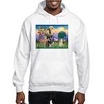 St Francis / Cocker (buff) Hooded Sweatshirt