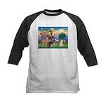 St Francis / Cocker (buff) Kids Baseball Jersey