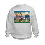St Francis / Cocker (buff) Kids Sweatshirt