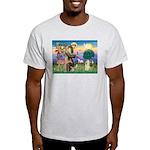 St Francis / Cocker (buff) Light T-Shirt