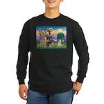St Francis / Cocker (buff) Long Sleeve Dark T-Shir