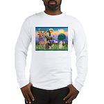St Francis / Cocker (buff) Long Sleeve T-Shirt