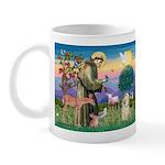 St Francis / Cocker (buff) Mug
