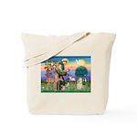 St Francis / Cocker (buff) Tote Bag