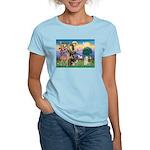 St Francis / Cocker (buff) Women's Light T-Shirt