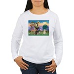 St Francis / Cocker (buff) Women's Long Sleeve T-S