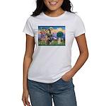 St Francis / Cocker (buff) Women's T-Shirt