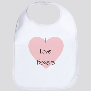 I Love Boxers Bib