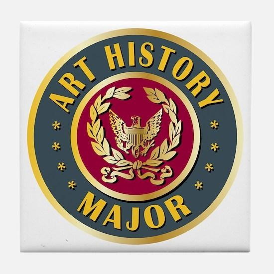 Art History Major College Course Tile Coaster