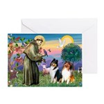 St Francis / Collie Pair Greeting Card
