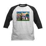 St Francis / Collie Pair Kids Baseball Jersey