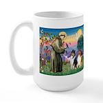 St Francis / Collie Pair Large Mug