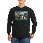 St Francis / Collie Pair Long Sleeve Dark T-Shirt