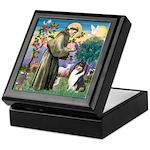 St Francis / Collie Keepsake Box