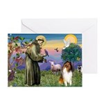 St Francis / Collie Greeting Card