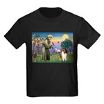 St Francis / Collie Kids Dark T-Shirt