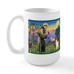 St Francis / Collie Large Mug