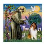 St. Francis & Collie Tile Coaster