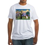St. Francis & Collie Fitted T-Shirt