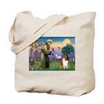 St. Francis & Collie Tote Bag