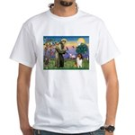 St. Francis & Collie White T-Shirt
