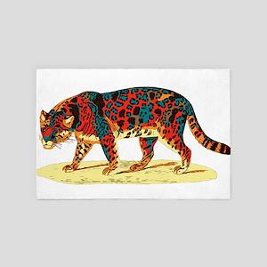 Colorful Jaguar A2 4' x 6' Rug
