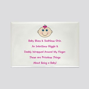 Daddy Wrapped Around Finger Rectangle Magnet